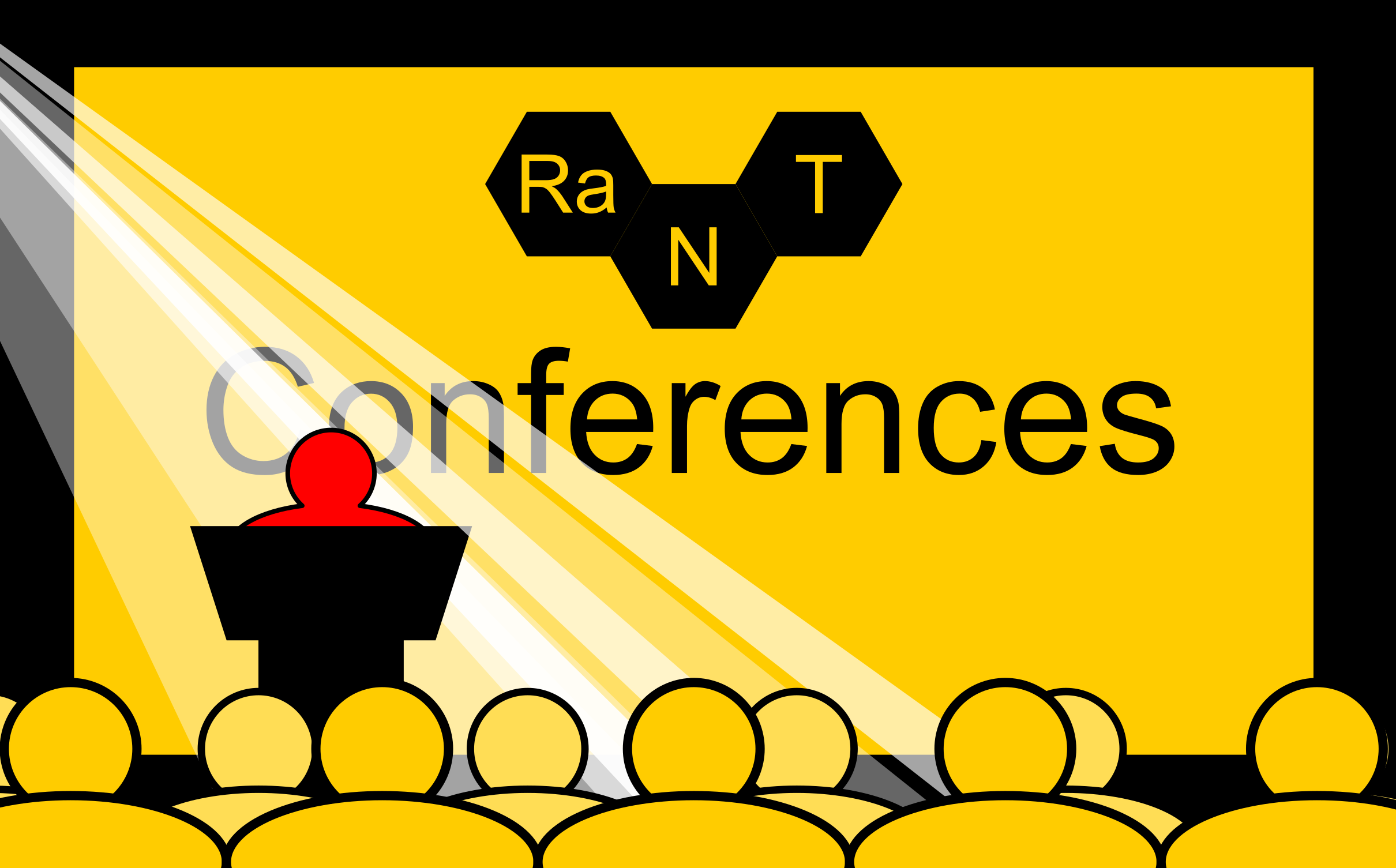 Conferences Graphic - This page/article is about the Raman Nanotheranostics (RaNT) team attending a scientific conference.